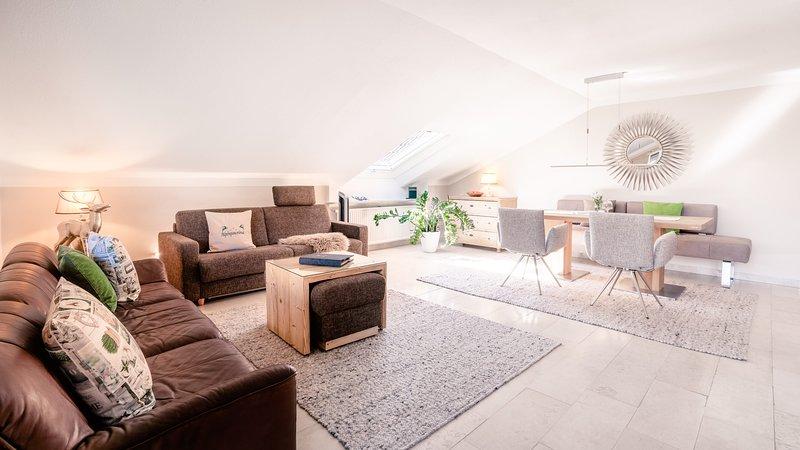 Wohnzimmer FeWo 'Alpenpanorama'