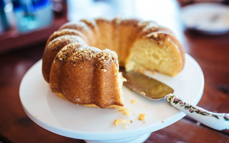 A Butter Rum Cake.  We make this in our Cooking with Rum class should you want to try it out.