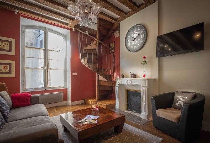 Duplex calme et spacieux, au pied du château, holiday rental in Champigny-en-Beauce