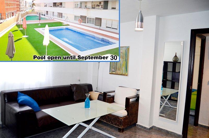 salone e piscina
