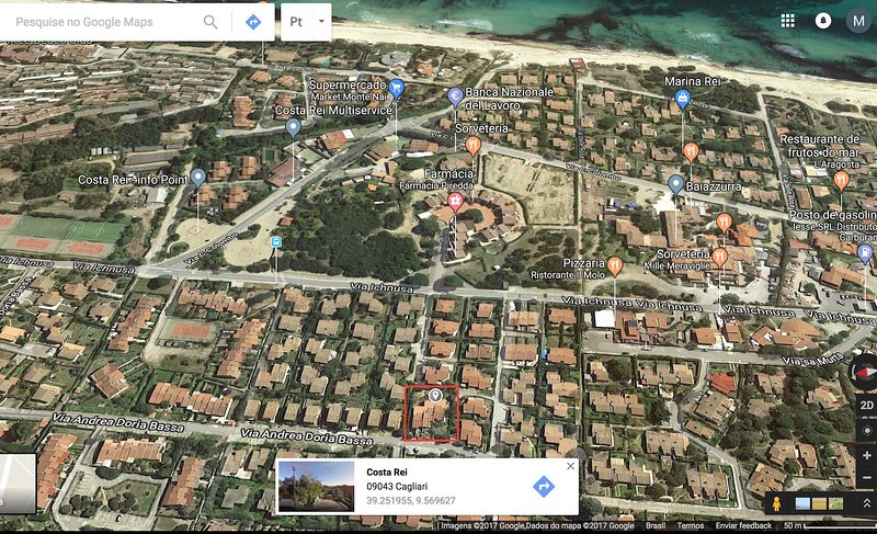 Location home (350 meters from the sea on a flat path)