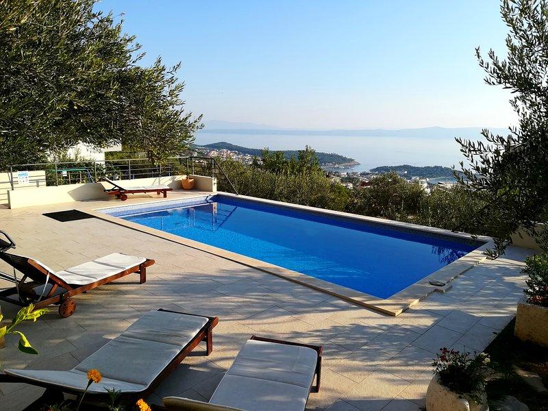 La vista desde la piscina