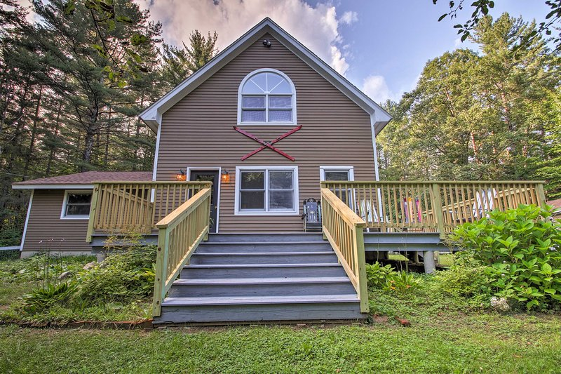 This charming vacation rental home awaits you in Newry, Maine!