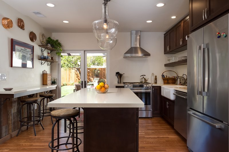 Gourmet kitchen with all the amenities. Huge island, Shaw farmhouse sink, brand new Bosch appliances