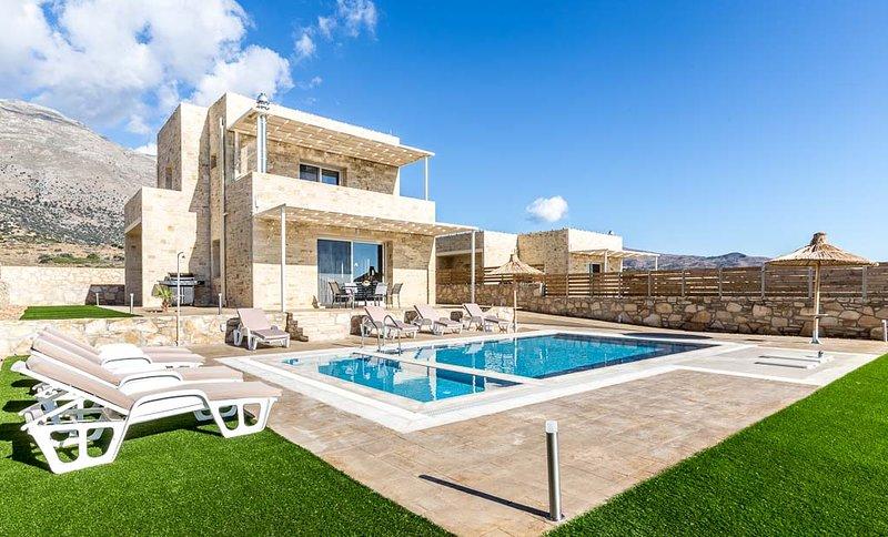 White Stone Seaview Villa, Triopetra Rethymno, holiday rental in Kerames