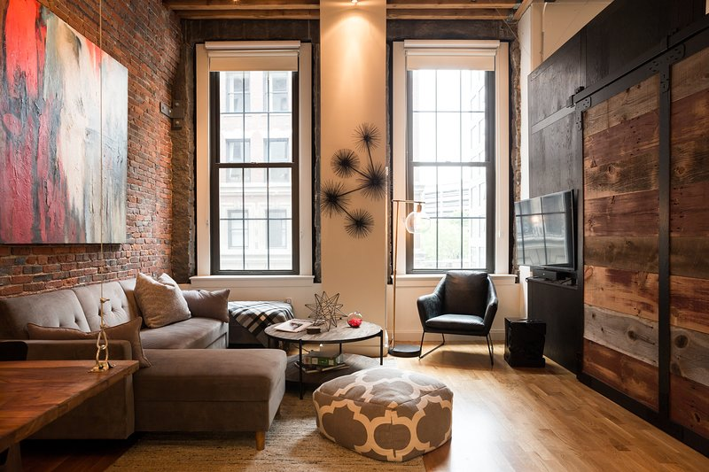 Lots of character in this loft with 12-foot ceilings
