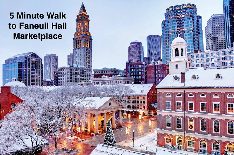5 minute walk to Faneuil Hall Marketplace
