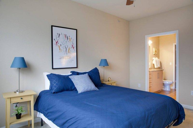Bedroom #1 with queen size bed