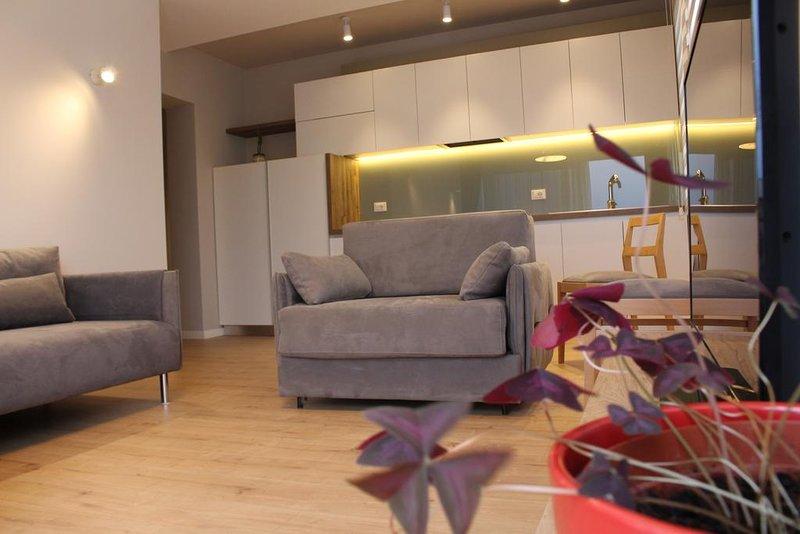 Gemütliches und heimeliges Wohnzimmer in einer der drei Wohnungen in Stil und Komfort eingerichtet