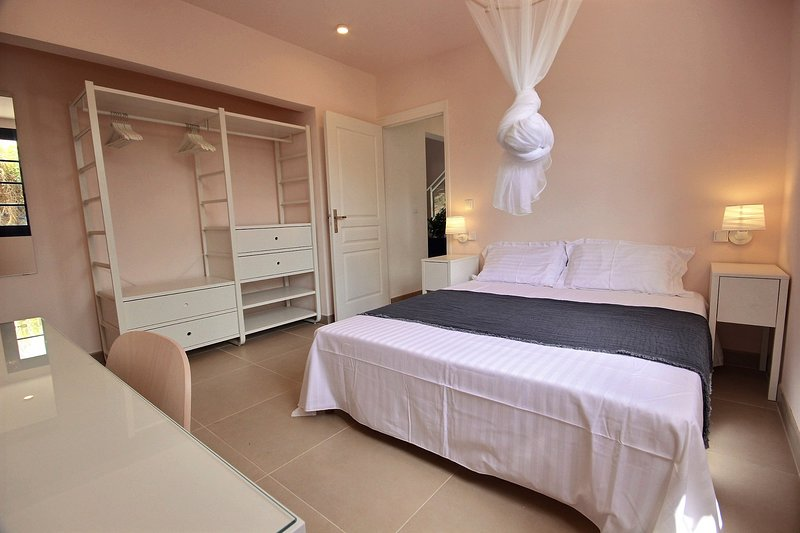 Double room with mosquito net