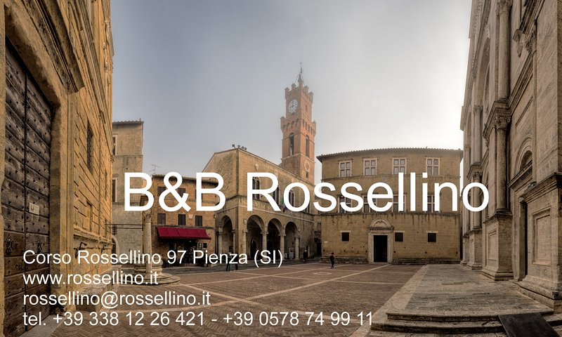 B & B ROSSELLINO - CORSO ROSSELLINO 97 - PIENZA - SIENA - TOSKANA - ITALIEN