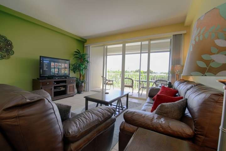 Beautiful Vacation Home Living Area w/Canal View - Watch for the Manatees!