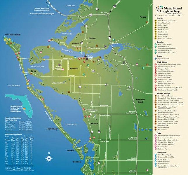 Shorewalk Vacation Villas - Map of Bradenton area