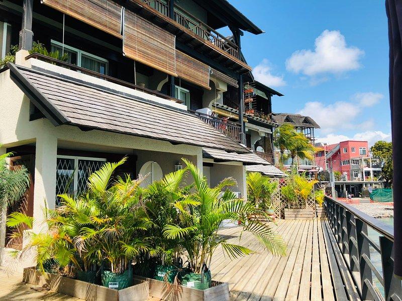 Piedi dell'appartamento nell'acqua Grand Baie Mauritius