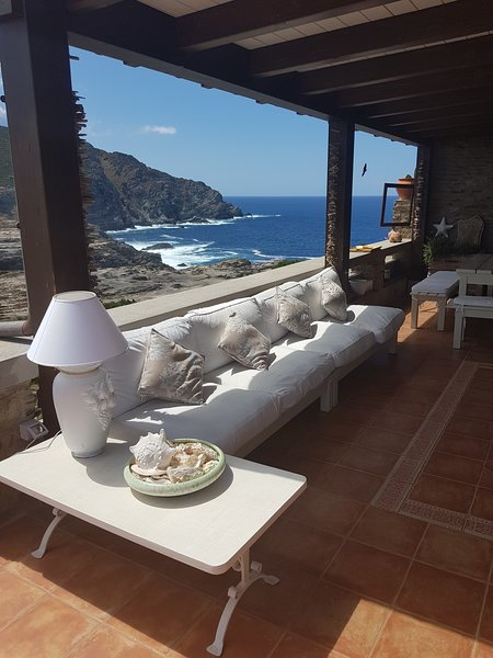 the  HUGE terrace situated at the very end of SARDINIA island