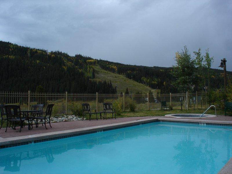 Red hawk pool and hot tub. Enjoy all year round.