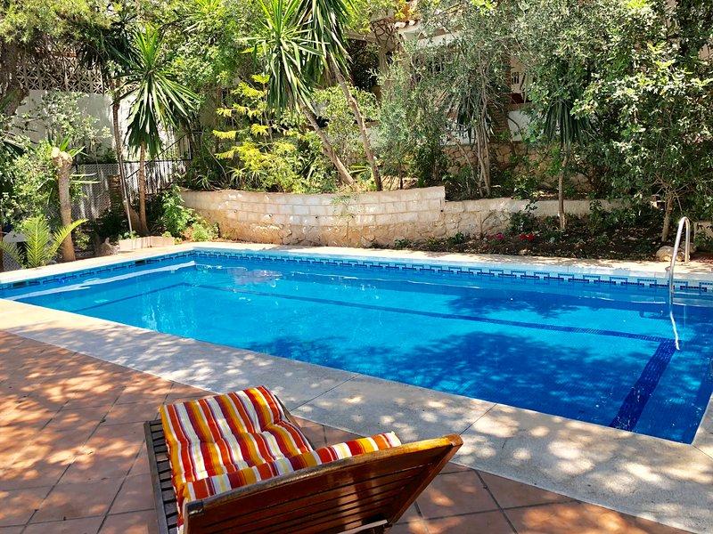 Villa Pinares in Málaga, with pool, garden, garage, Wifi, holiday rental in Pedregalejo