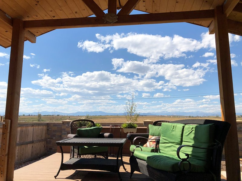 View from the backyard deck, Accessible thru the side gate  'You will truly enjoy Denver Launch Pad