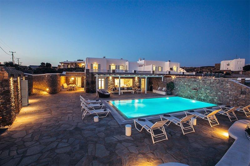 Front Villa View at Night