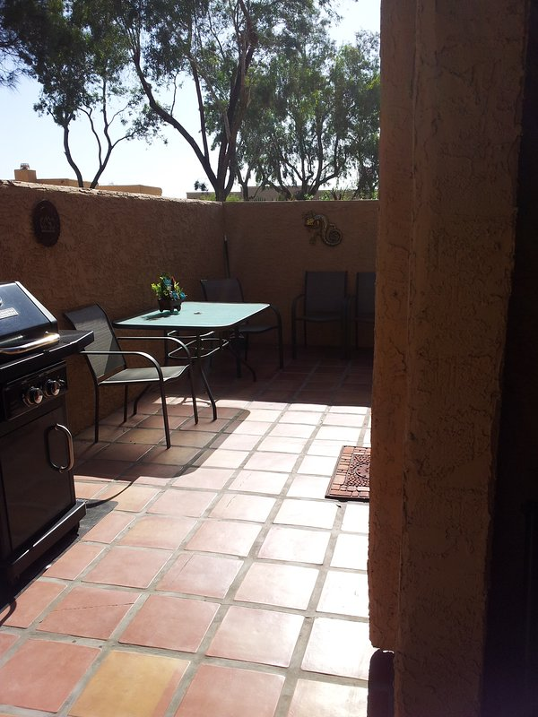 Nice private patio with BBQ