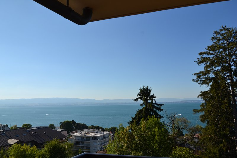 ⭐️⭐️⭐️ Amazing view on the lake, 10 mn walk to Thermal bath and pier to Switzerland, casa vacanza a Maxilly-sur-Leman