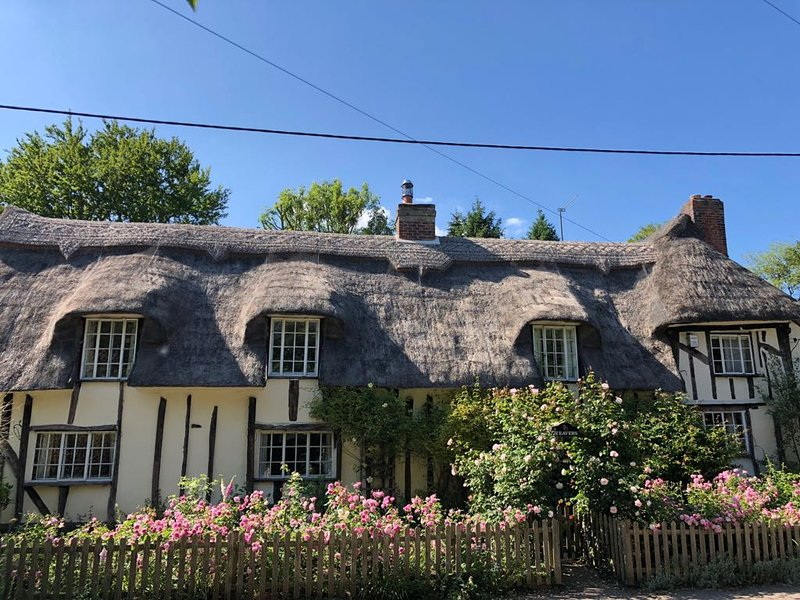 The front of the cottage
