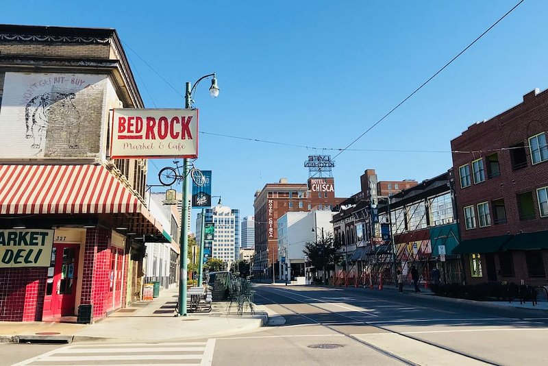 Corner of Main St. & Vance. Only 7 minutes walk to Beale Street!