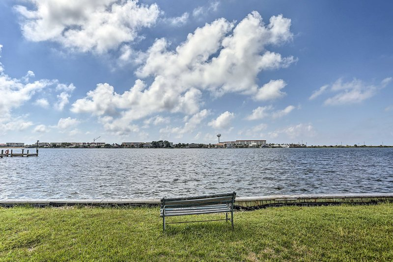 Watch the boats sail by on the Intracoastal Waterway.
