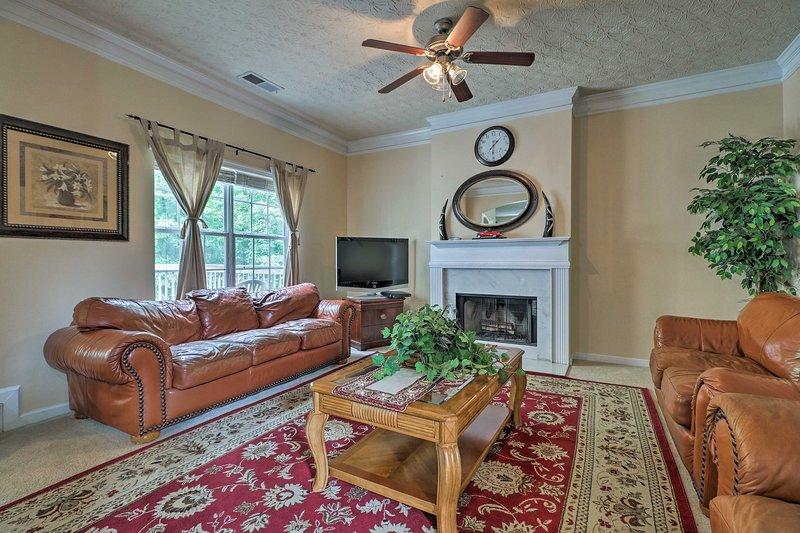 Questa casa vanta un sacco di spazio vitale per rilassarsi.