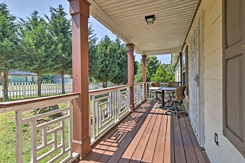 This home offers a charming front porch.