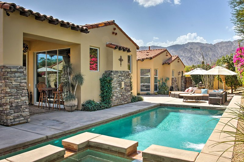 With a spacious patio and a private pool, this is the ideal CA vacation rental.