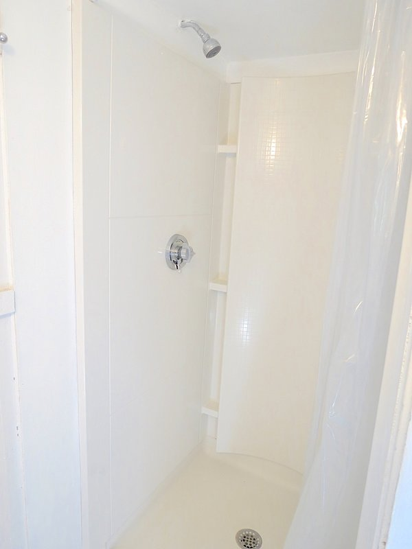 . . . and a new shower stall