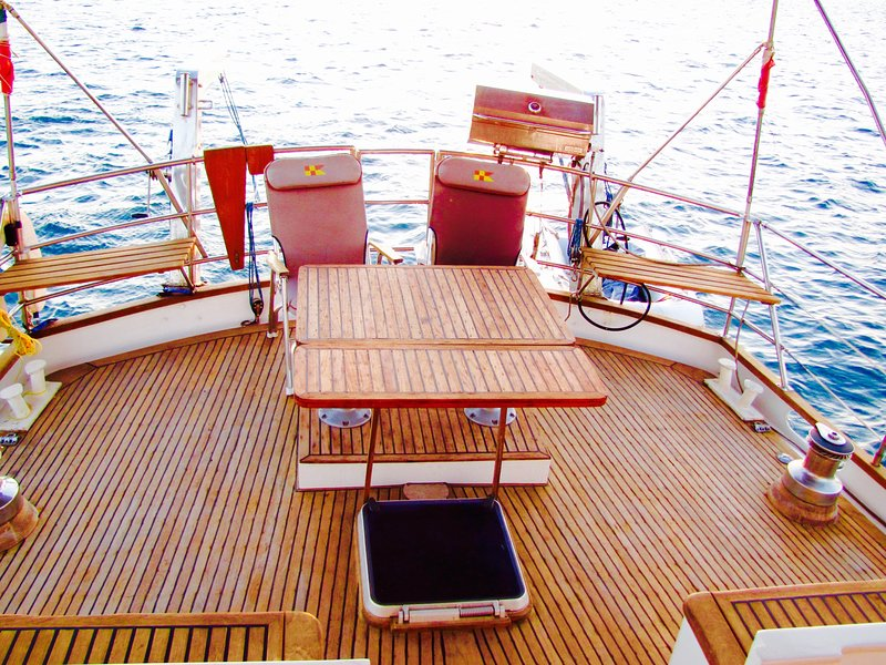 Large teak deck