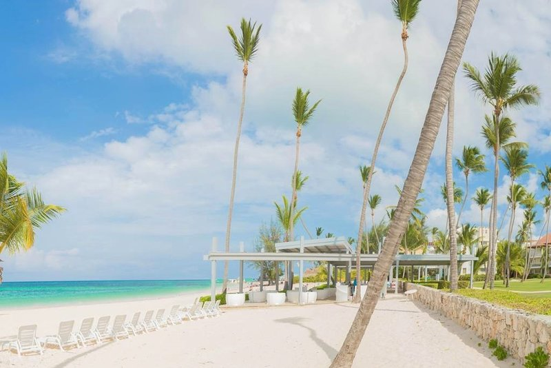 The private beach in front of the resort is one of the most beautiful beaches in Punta Cana.