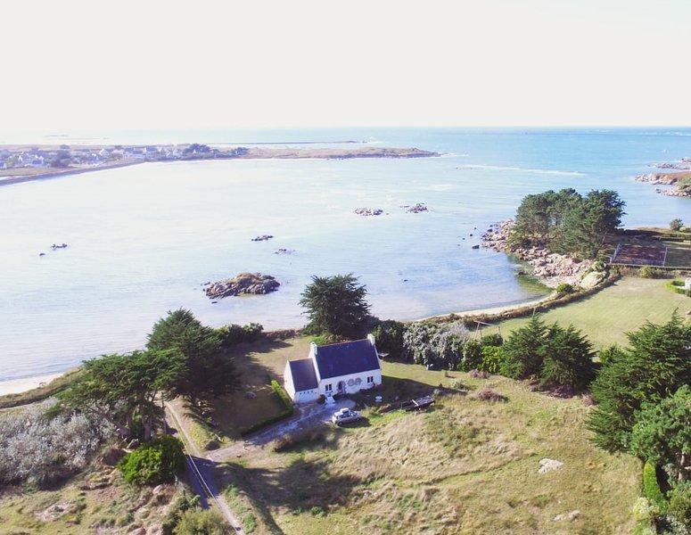 Villa bord de plage et mer, vue et acces mer - Bretagne finistere