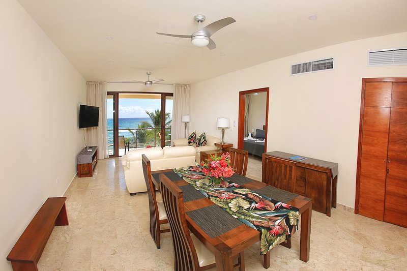 Spacious and comfortable living with endless ocean views.