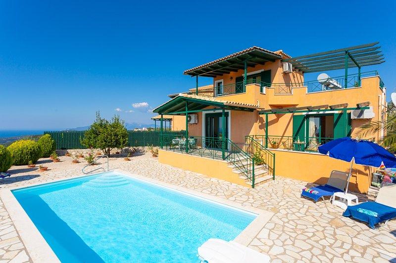 Villa Vera: Large Private Pool, Sea Views, A/C, WiFi, Eco-Friendly, alquiler de vacaciones en Assos