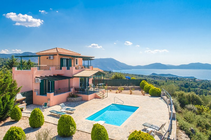 Beautiful villa with private pool, terrace, and panoramic sea views