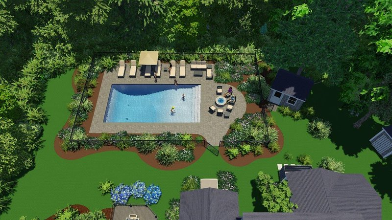 . . .and now, with a striking new in-ground pool with a patio to enhance your outdoor summer vacation experience.