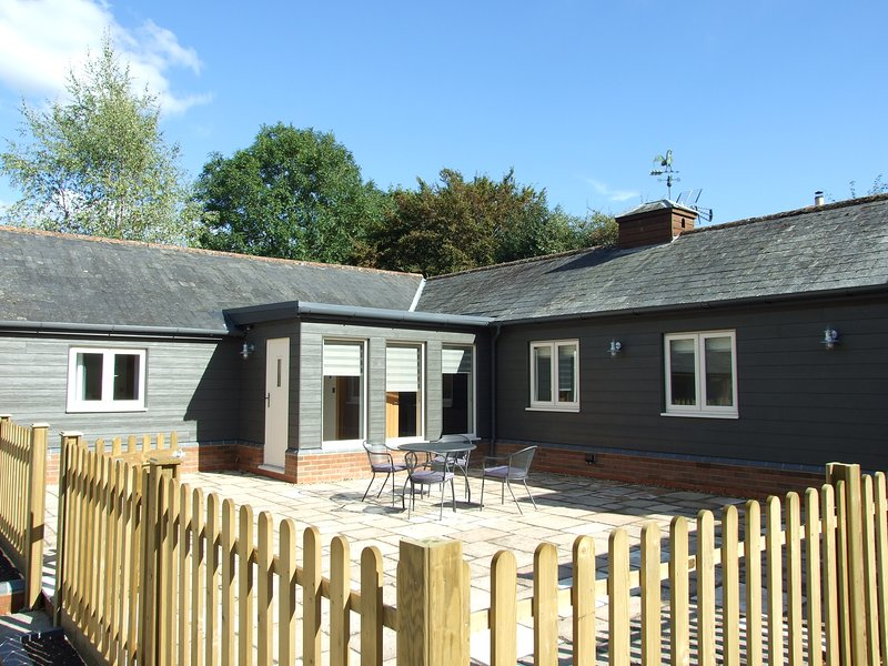 Large enclosed patio, a real suntrap!