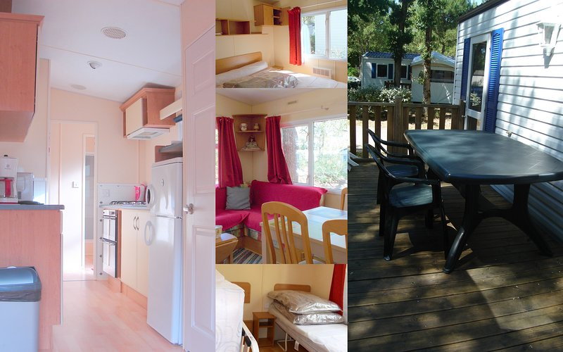 Mobil-Home Panoramique Tout CONFORT, 2 Ch BIEN EQUIPE dans FORET - MER - ANCV, casa vacanza a Tharon-Plage