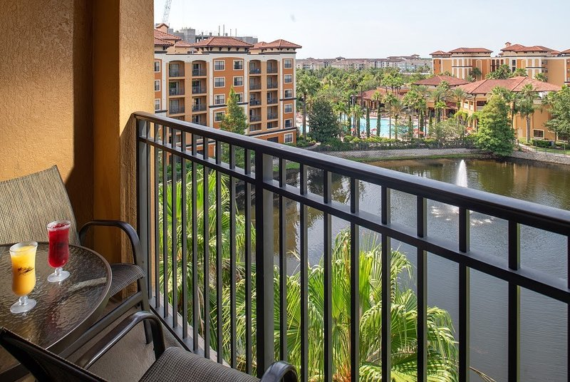 Sit out on your private furnished balcony to take in the water views!