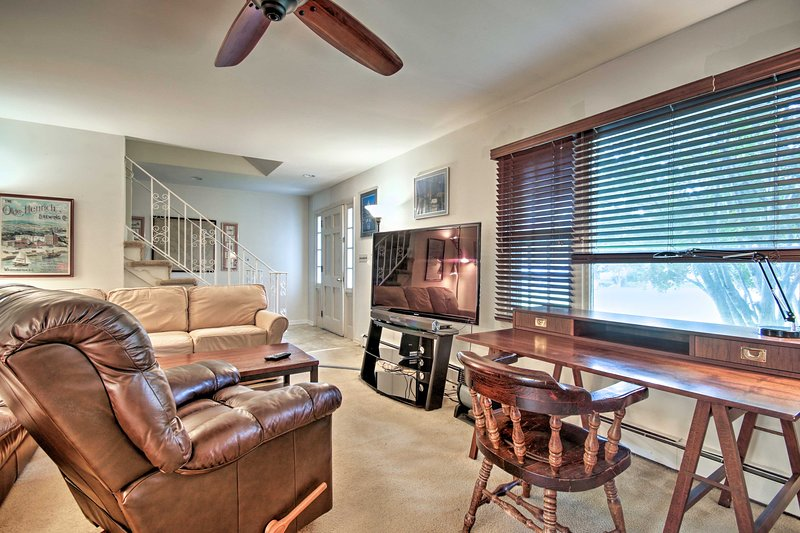 Up to 8 guests can be accommodated in this spacious home.