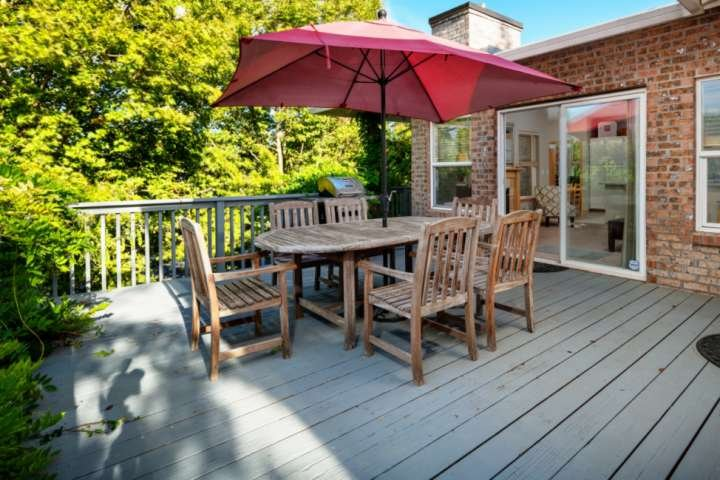 With the deck sitting just off the family room you can enjoy the deck while not being separated from everyone else