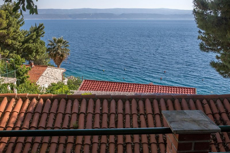 main view from south terrace on island Brač