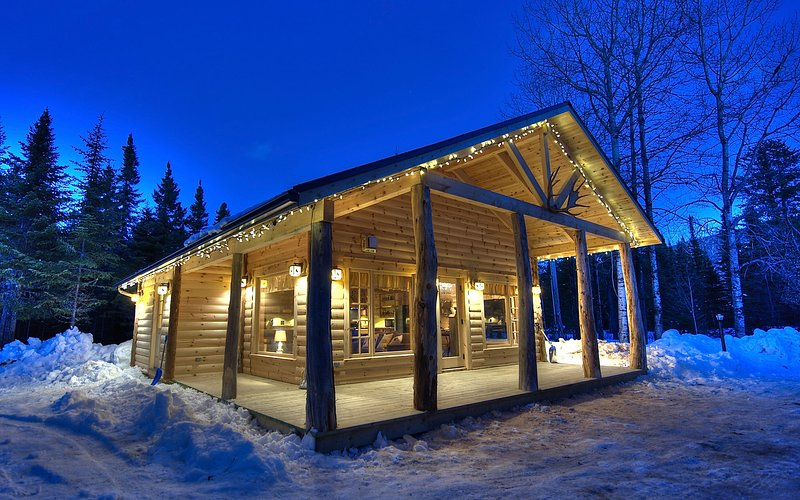 Chalet WOODY Front of property capacity for 6 people LES CHALETS DE MOH