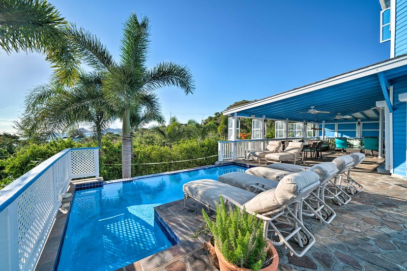 Airy Nevis Oasis w/ Private Pool & Stunning Views!, vacation rental in Turtle Beach