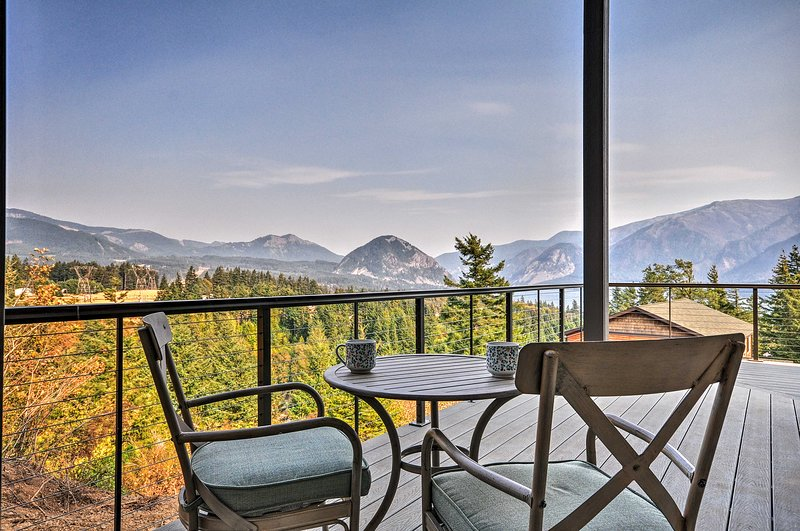 Admire sweeping mountain views from this Carson vacation rental home!