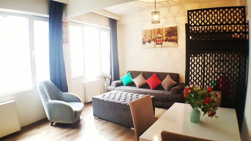 Best Location Large Family Apartment Taksim Square 2 Rooms Balcony Fourth Floor