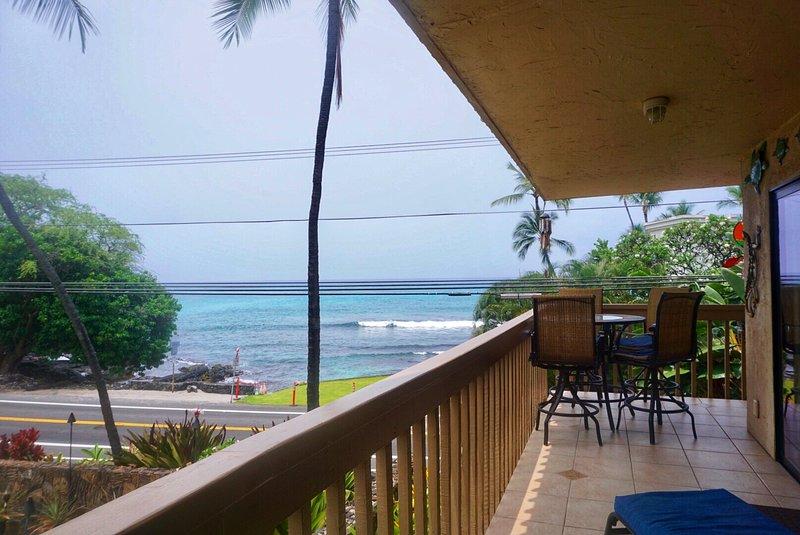 Wrap around lanai with full ocean view.
